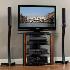"Bedroom Height TV Stand for up to 42"" TV - Wood Trim"