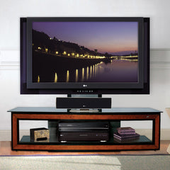 "Low TV Stand for up to 60"" TVs with Cherry Trim"