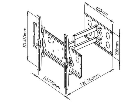 Panasonic Swivel Tv Mount For 3250 Single Arm