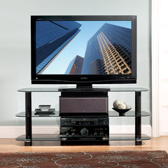 "Large TV Stand for up to 56"" TVs - Black Gloss"