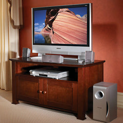 "Wood TV Stand for up to 46"" TVs - Dark Mocha Finish"