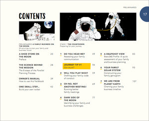 Family Business on the Moon contents page 17