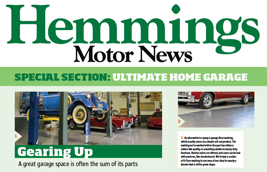 </p></br>Hemmings Motor News Touts G-Floor® Roll Out Garage Floor Mats