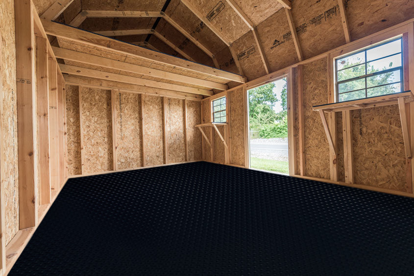 <p/><br/>Pros and Cons of 5 Popular Shed Floor Coverings