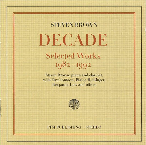 Decade: Selected Works 1982-1992