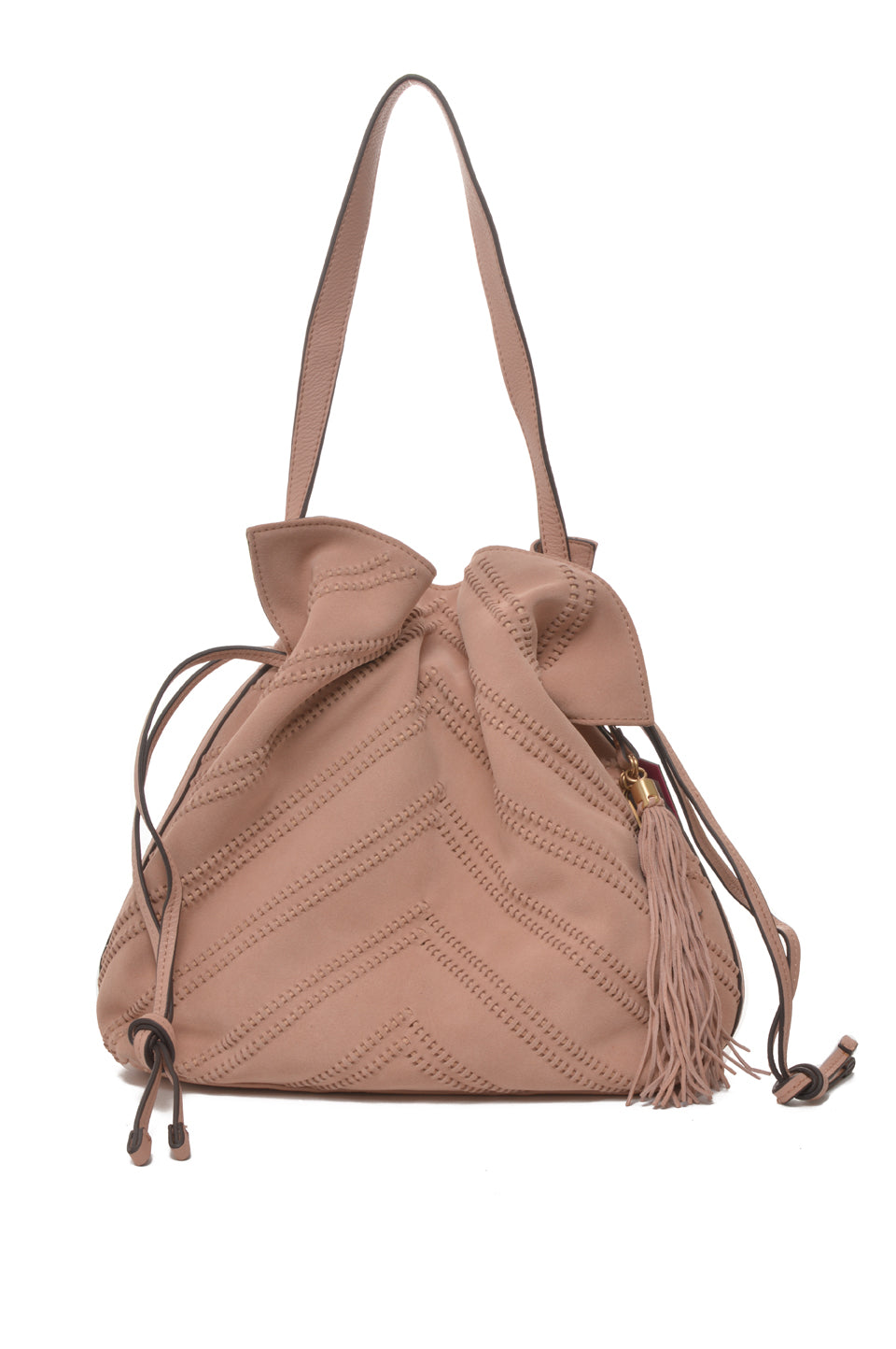 Nella Leather Hobo | Garden Rose