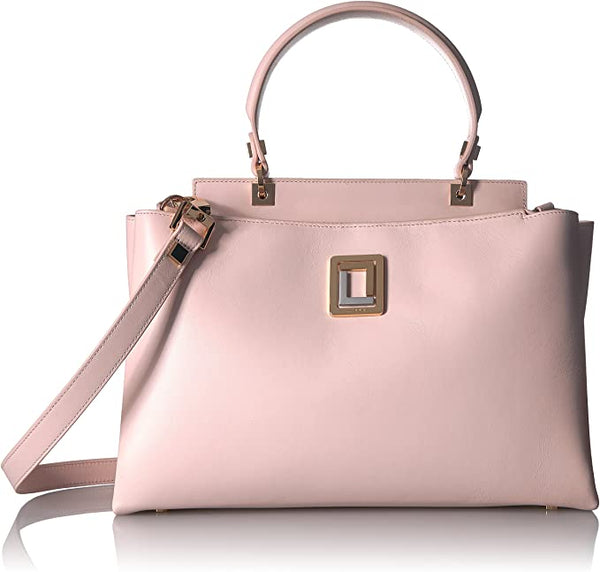 LUANA ITALY | Double Zip Satchel Rose Smoke