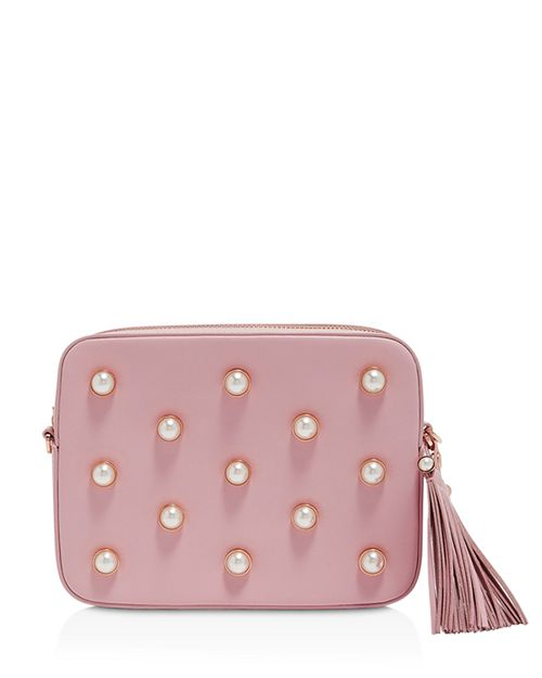 Alessia | Pearl Camera Crossbody Pink