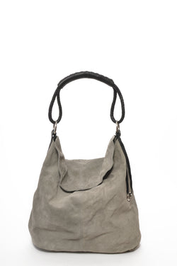 HL LEATHER | Suede Hobo Grey
