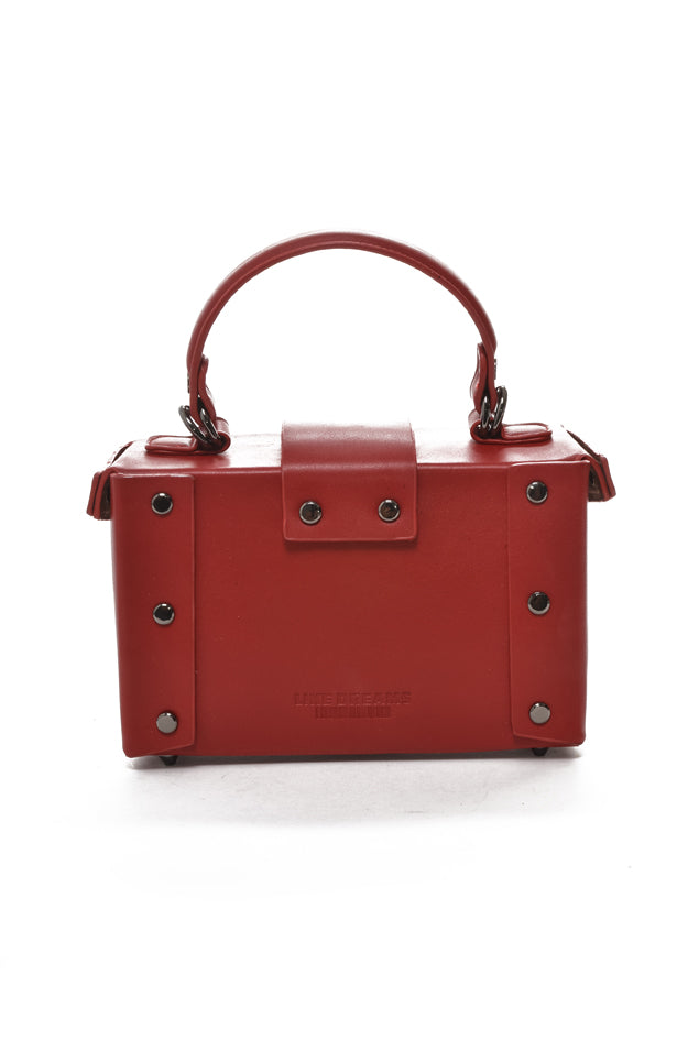 AGATHA | Mini Vegan Satchel Red
