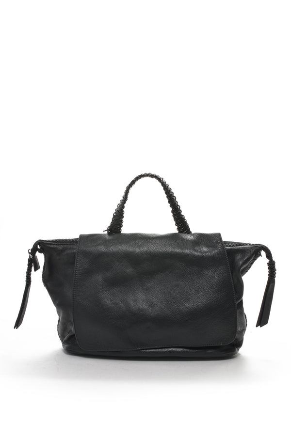 Leather Satchel | Black