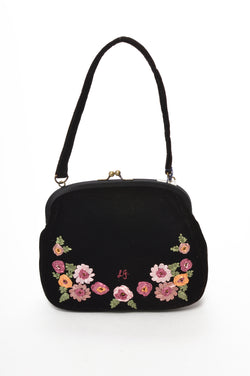 Lulu Guiness | Velvet Embroidered Bag