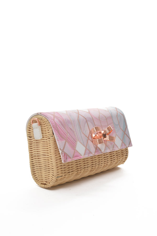 Ted Baker London | SEA OF CLOUDS  Carol Straw Crossbody Clutch