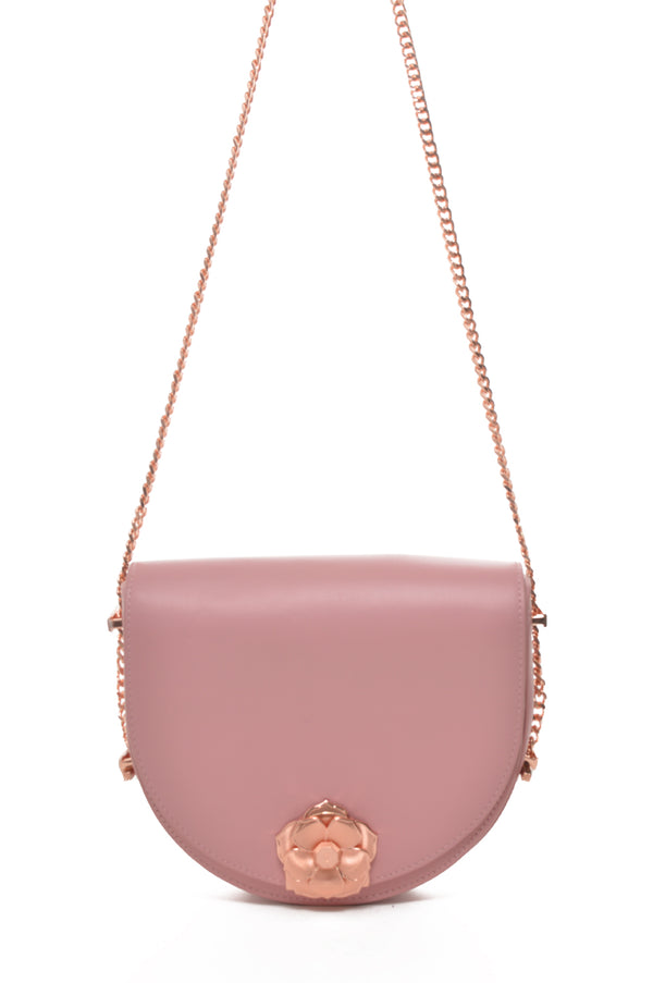 Roslyn Flower Clasp | Leather Crossbody