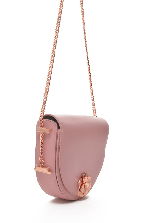 Ted Baker London | Roslyn Flower Clasp Leather Crossbody