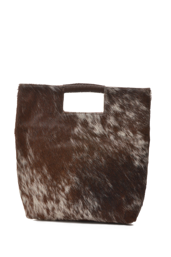 Reid | Wrap Handle Haircalf Tote