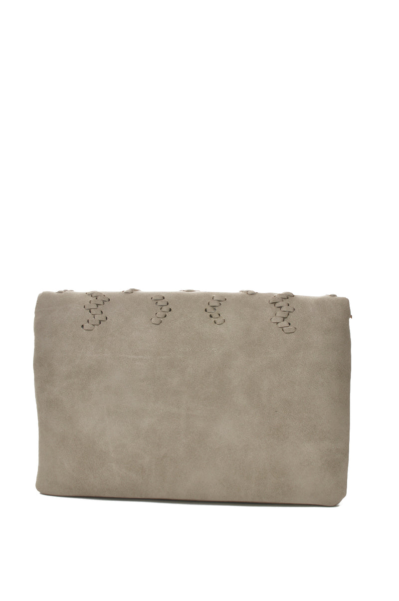 Perforated Detail | Grey Crossbody