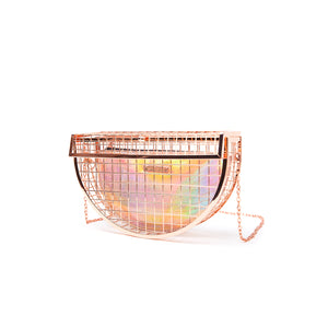 METAL CAGE | Rose Gold Clutch