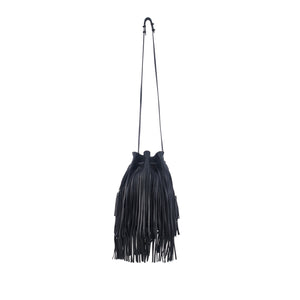 Industry Bucket Bag | Black Fringe