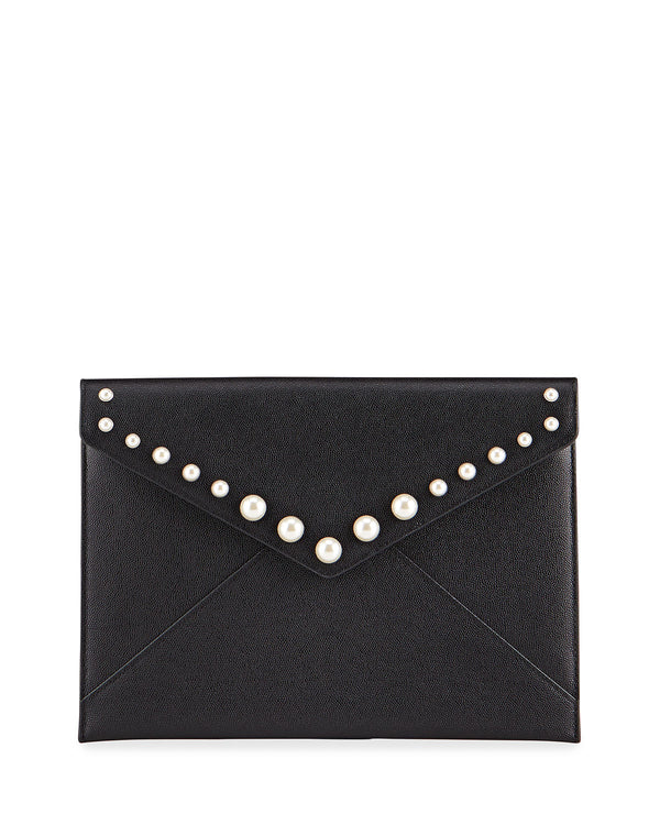 Rebecca Minkoff | Leo Clutch With Pearl Studs