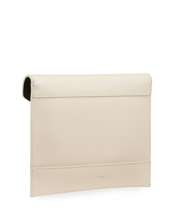 Rebecca Minkoff | Leo Clutch With Pearl Studs Tahini