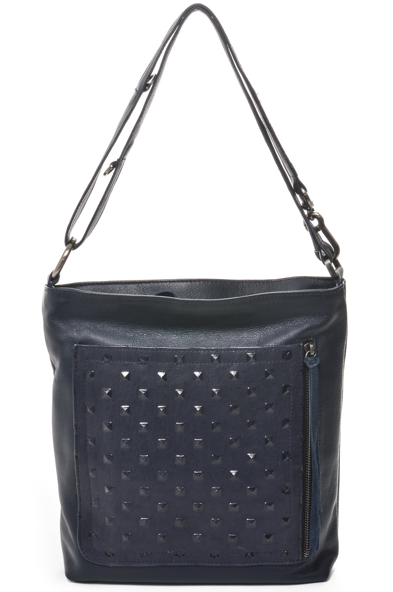 RILEY Navy Studded