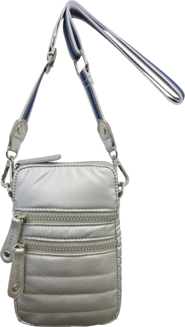 SONDRA ROBERTS | Cell Phone Crossbody Silver
