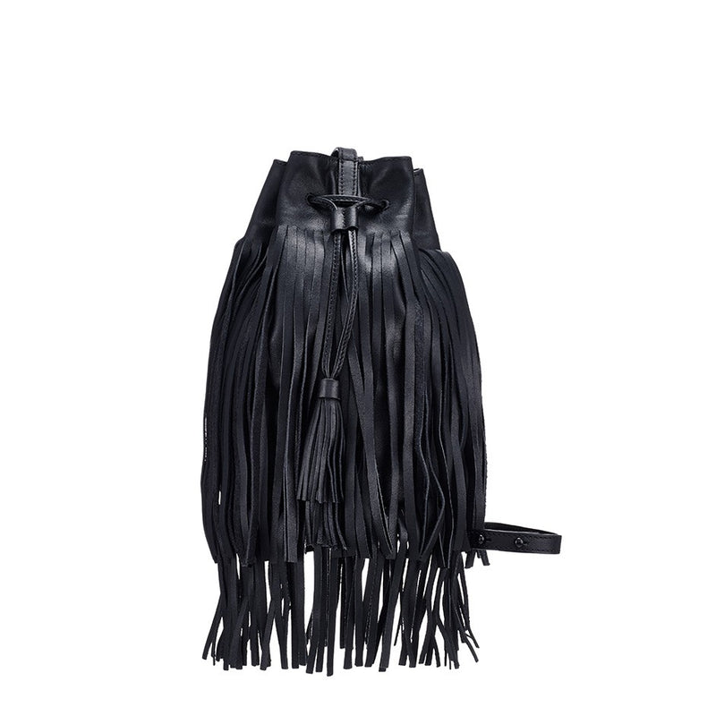 Loeffler Randall | Industry Bucket Bag Black Fringe