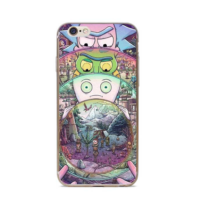 Rick And Morty Phone Case Cover For iPhone 7 Plus 6S 6 Plus 5S 5 SE 8 – ARS  xpress 1846d2fac8c