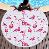 Exclusive Flamingo Round Beach Towel