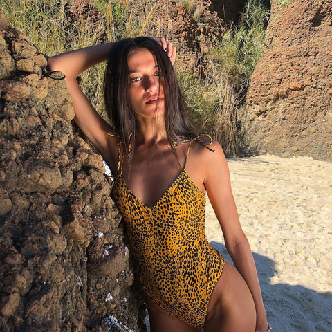 Sexy Leopard One Piece Bodysuit