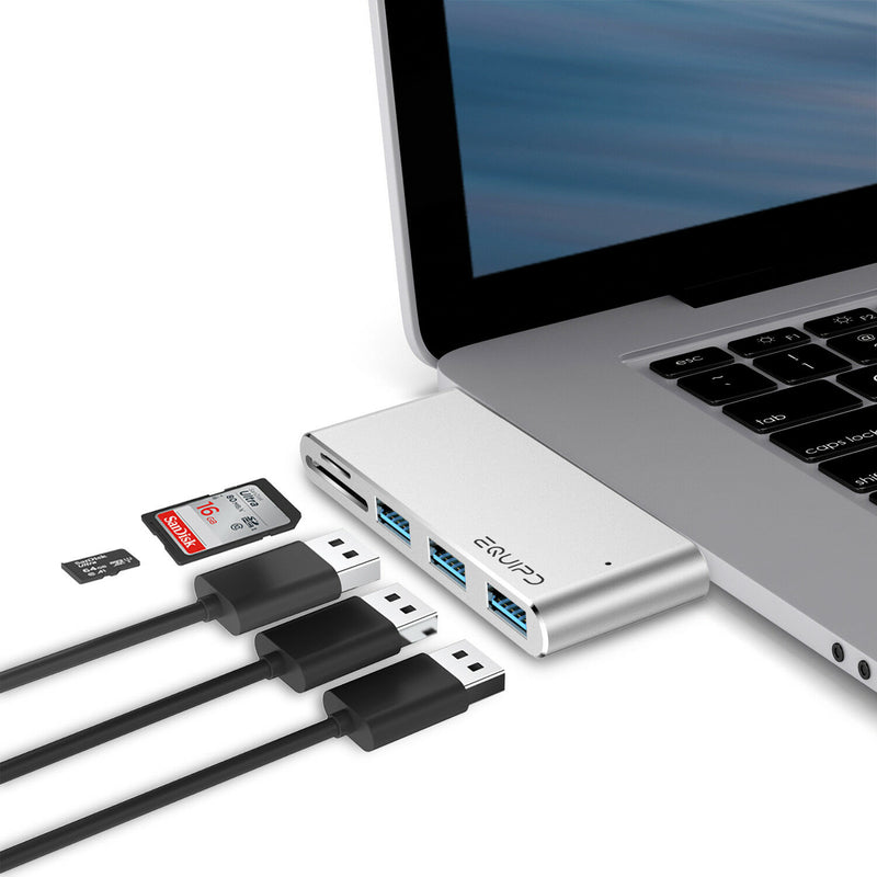 Aluminum USB-C Card reader Hub Adapter - InfinityAccessories017