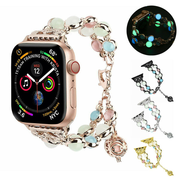 Luminous Pearl Watch Band Strap Metal Bracelet for Apple iWatch Series 4/3/2/1 - InfinityAccessories017