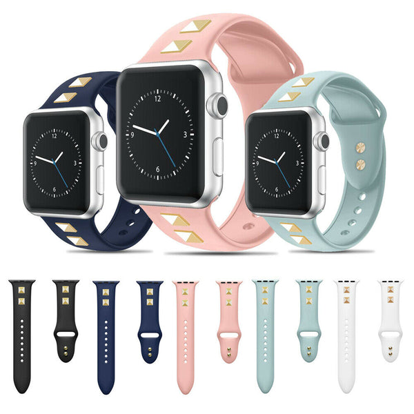 Silicone Sport Watch Band Strap Spikes Rivets for Apple iWatch Series 5/4/3/2/1 - InfinityAccessories017