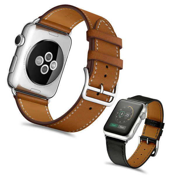Leather Classic Watch Band Strap for iWatch Apple Watch Series 5/4/3/2/1 - InfinityAccessories017
