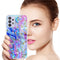 "TJS ""Minerva"" Glitter TPU Phone Case for Samsung Galaxy A32 5G - Colorful Galaxy"