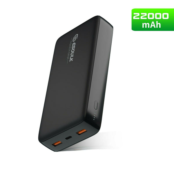 22000mAh Power Bank USB-C 54W PD & Dual USB Fast Charge External Battery - InfinityAccessories017