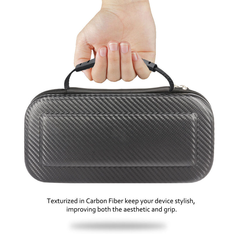 Nintendo Switch Carrying Case Carbon Fiber Portable Pouch Travel Bag - InfinityAccessories017
