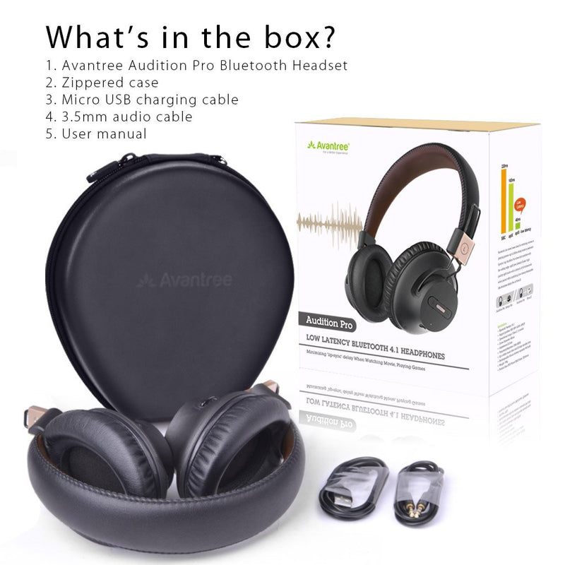 Audition Wireless Wired Bluetooth Over Ear Stereo Headphones with Mic - InfinityAccessories017