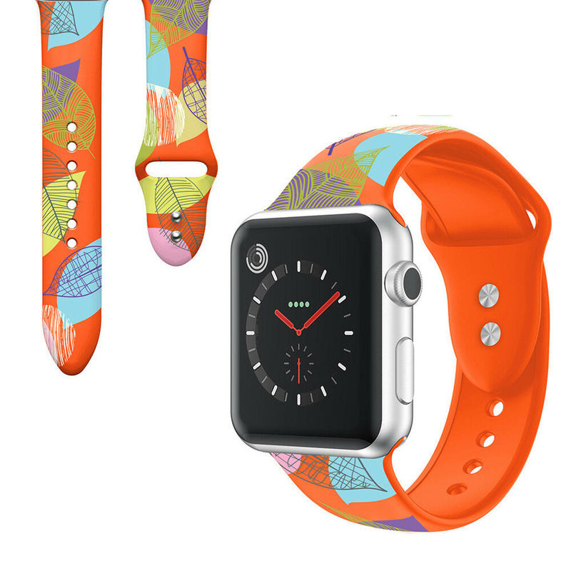 Patterned Silicone Watch Band Strap for Apple Watch Series 5/4/3/2/1 - InfinityAccessories017