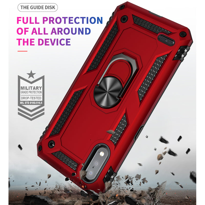 "TJS ""DuoGuard"" Ring Kickstand Phone Case for LG K22, LG K22+, LG K32"