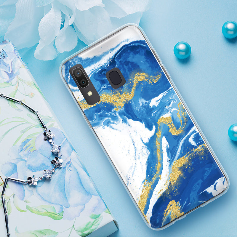 "TJS ""Juno"" Marble Design IMD TPU Phone Case for Galaxy A20, Galaxy A30 - InfinityAccessories017"