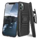 "TJS ""Jupiter"" Kickstand Phone Cse with Belt Clip Holster for iPhone 11, iPhone 11 Pro, iPhone 11 Pro Max - InfinityAccessories017"