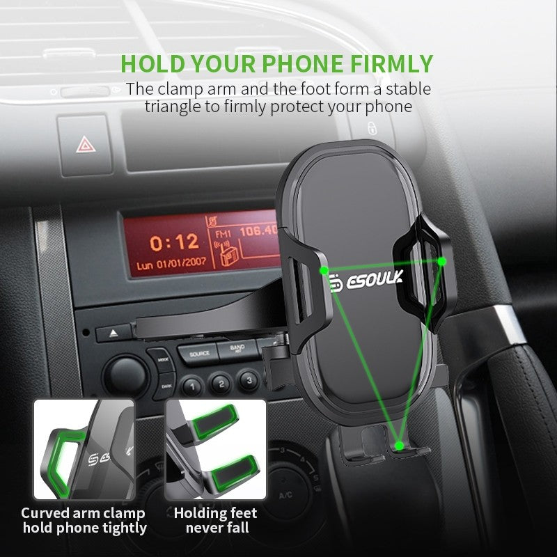 ESOULK One Touch CD Slot with 360 Rotation Ball Joint Car Mount