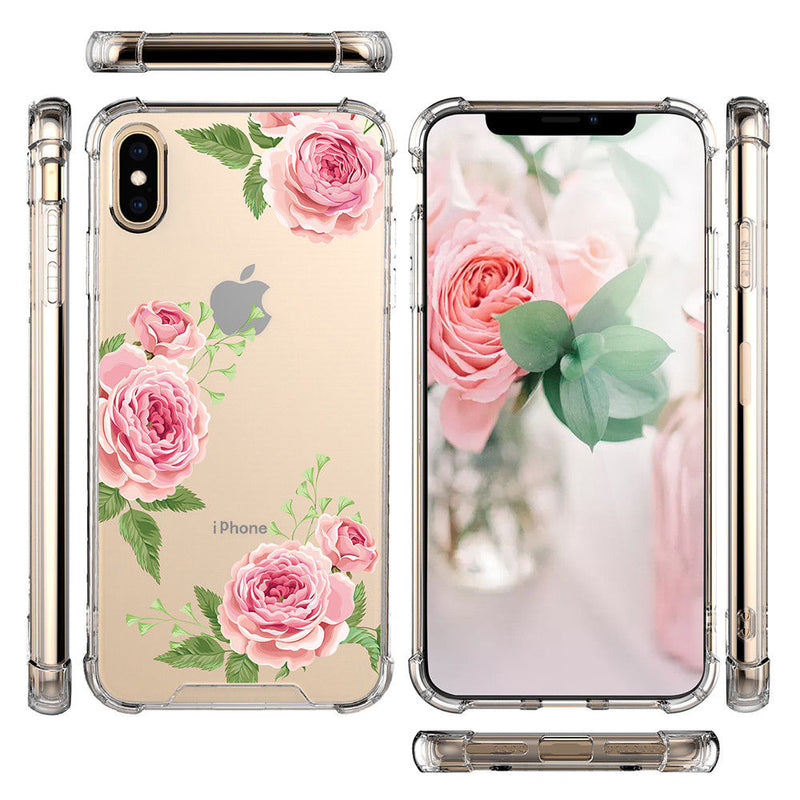 "TJS ""Ceres"" Flower Design Clear TPU Phone Case for iPhone 11, iPhone 11 Pro, iPhone 11 Pro Max - InfinityAccessories017"