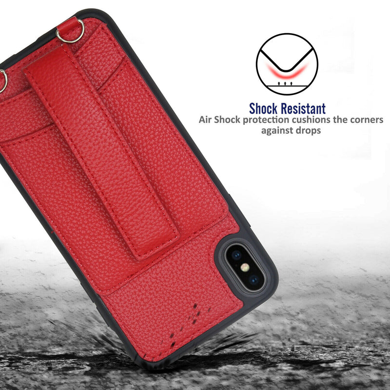 "TJS ""Garnet"" Crossbody PU Leather Wallet Case for iPhone 11, iPhone 11 Pro, iPhone 11 Pro Max - InfinityAccessories017"