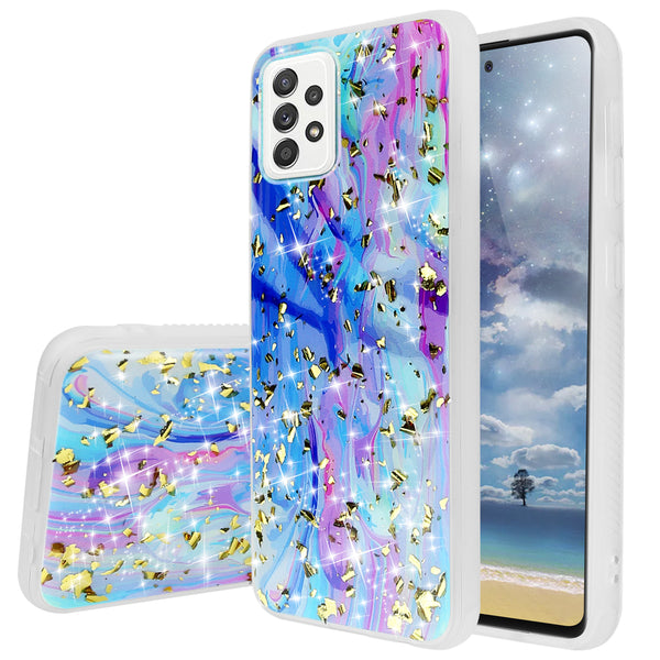 "TJS ""Minerva"" Glitter TPU Phone Case for Samsung Galaxy A52 5G - Colorful Galaxy"
