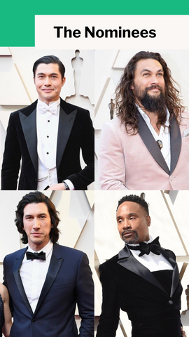 The Nominees - Henry Golding, Jason Momoa, Adam Driver, Billy Porter