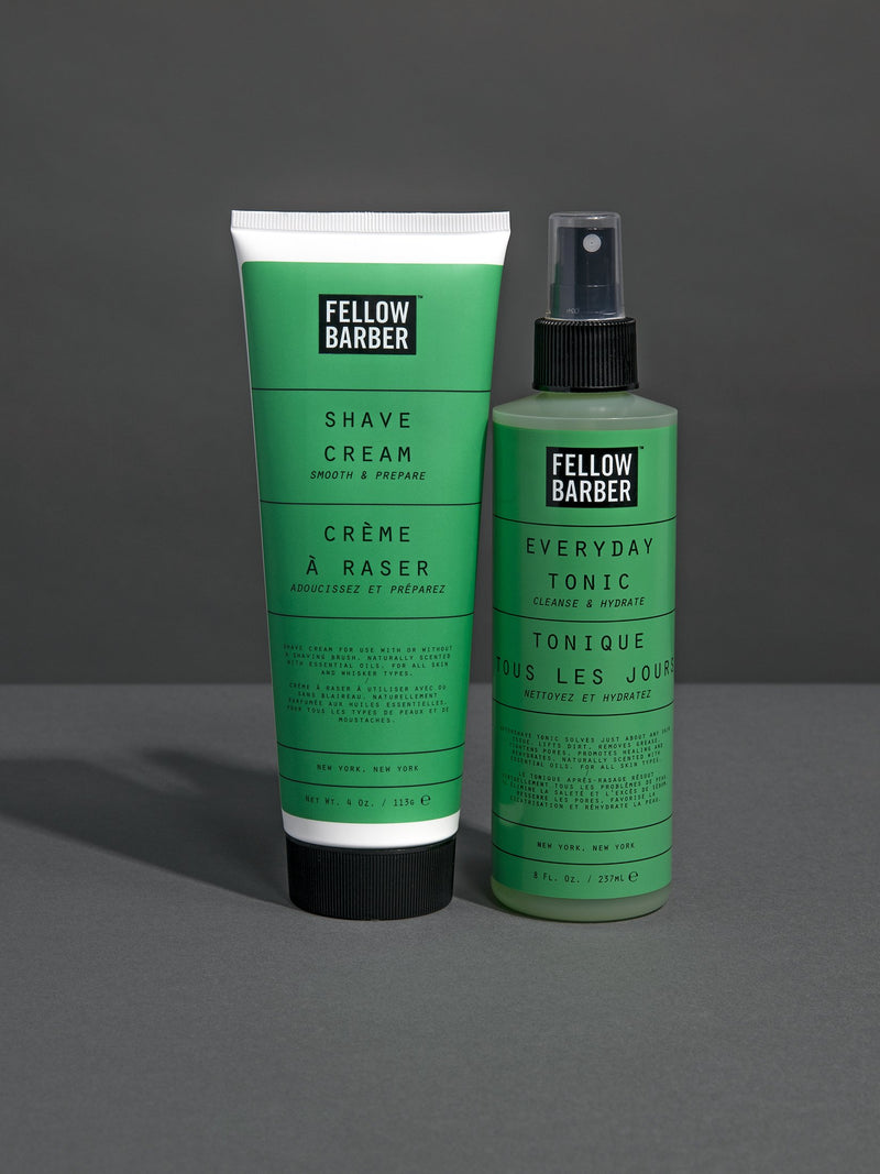 Shave Cream and Everyday Tonic