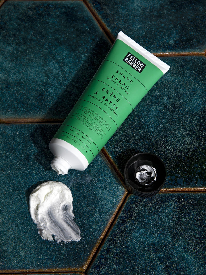Shave Cream on Tile